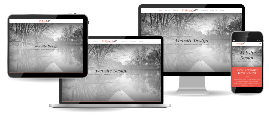Joomla and WordPress Websites for desktop tablet and mobile